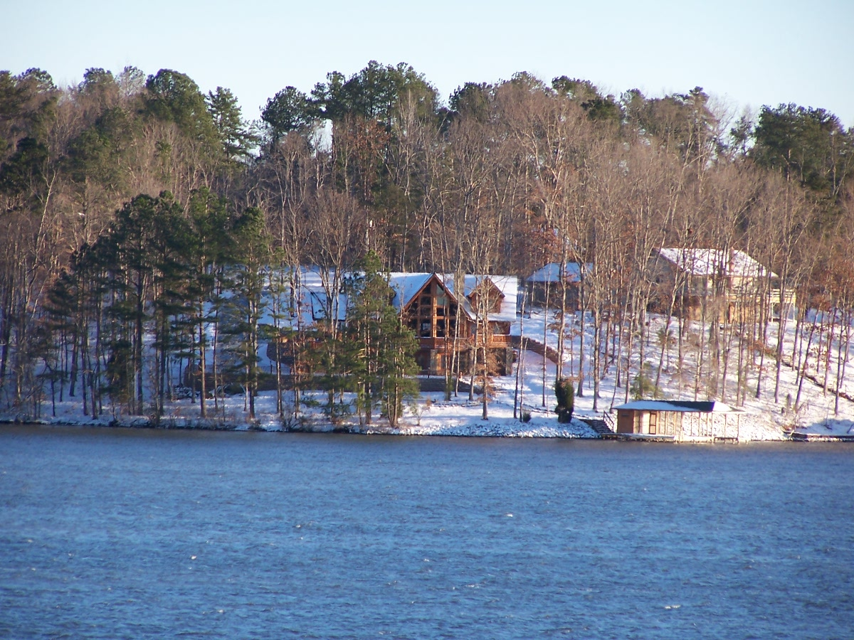 Snow on Lake Gaston